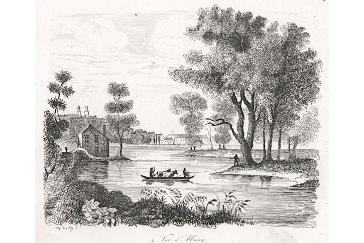 Albany, oceloryt, (1850)