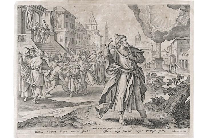 Jeremiáš 1, Voss -  Wierix, mědiryt, 1610