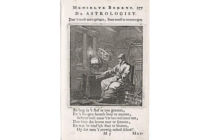 Astrolog, Jan Luyken, , mědiryt, 1711
