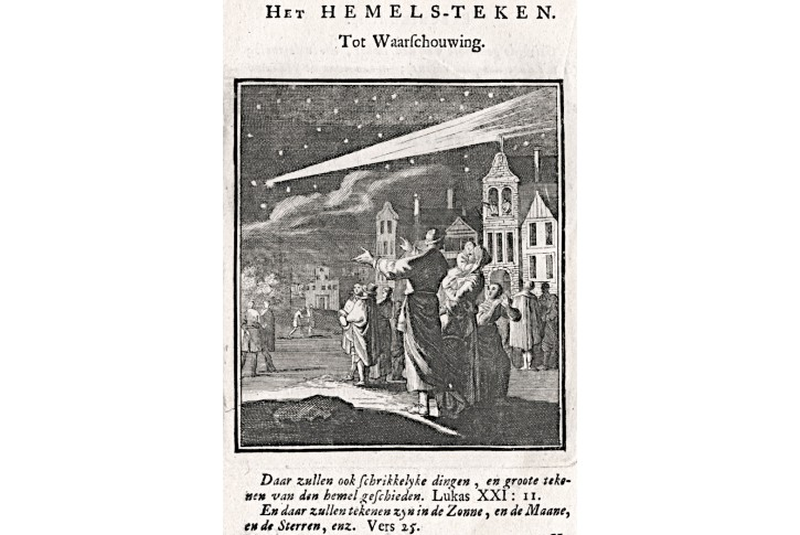 Kometa , Jan Luyken, , mědiryt, 1711