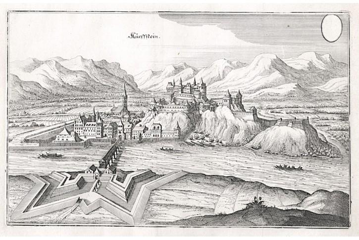 Kufstein, Merian, mědiryt, 1679