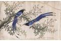 Ptáci, malba na hedvábí, (1920)