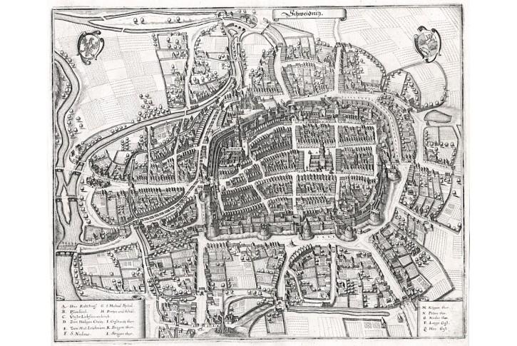Schweidnitz plan, Merian, mědiryt 1650