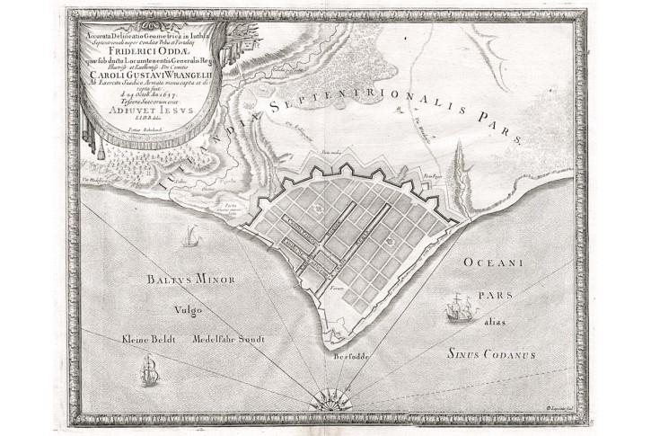 Fredericia, Puffendorf, mědiryt, 1697