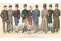 Moda, kolorovaná litografie, 1886