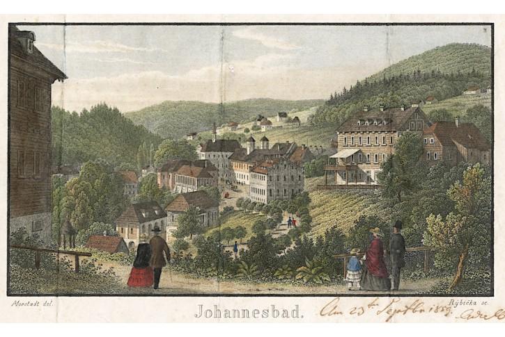 Janské Lázně., Morstadt, kolor. oceloryt, (1850)