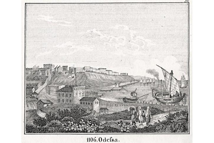 Oděsa, Neue Bilder.., litografie , 1837