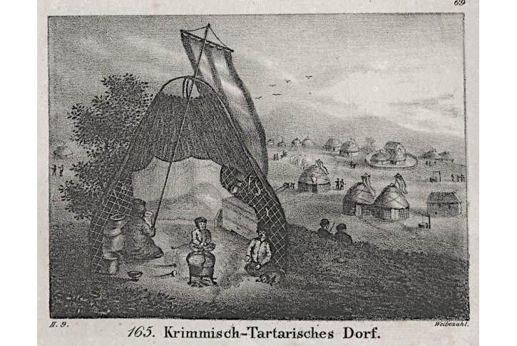 Krymští Tataři, Neue Bilder.., litografie , 1837