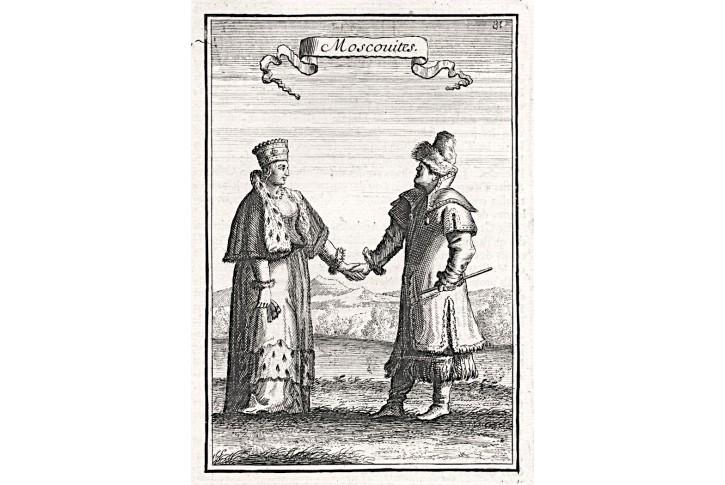 Rusko Rusové, Mallet, mědiryt, 1719