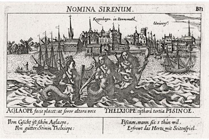 Kopenhagen, Meissner, mědiryt, 1678