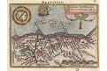 Galiae Narbonen, Ortelius miniatur, mědiryt, 1602