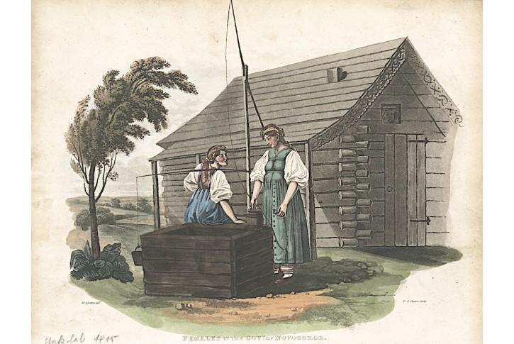 Novgorod ženy, Stockdale, akvatinta, 1815
