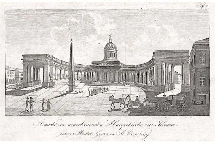 Petrohrad Kazan, mědiryt, (1820)