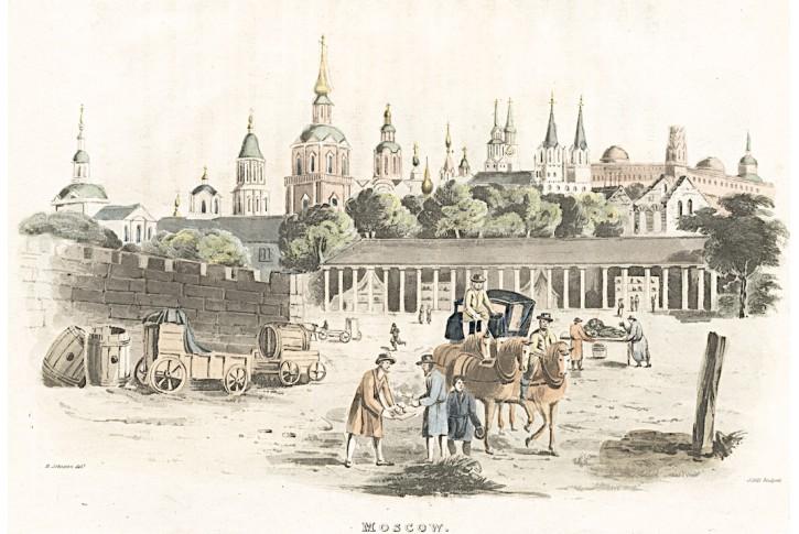 Moskva, Stockdale, akvatinta, 1815