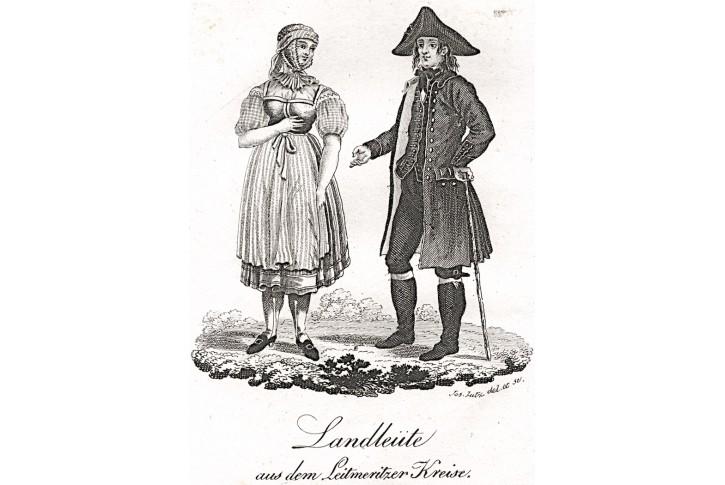 Litoměřice kroj, Gerle, mědiryt, 1823
