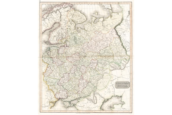 Russia European, Thomson, mědiryt, 1817