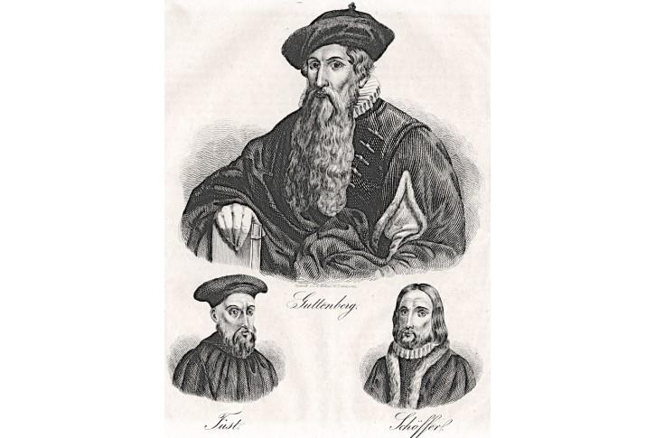 Guttenberg, Medau  litografie , (1840)