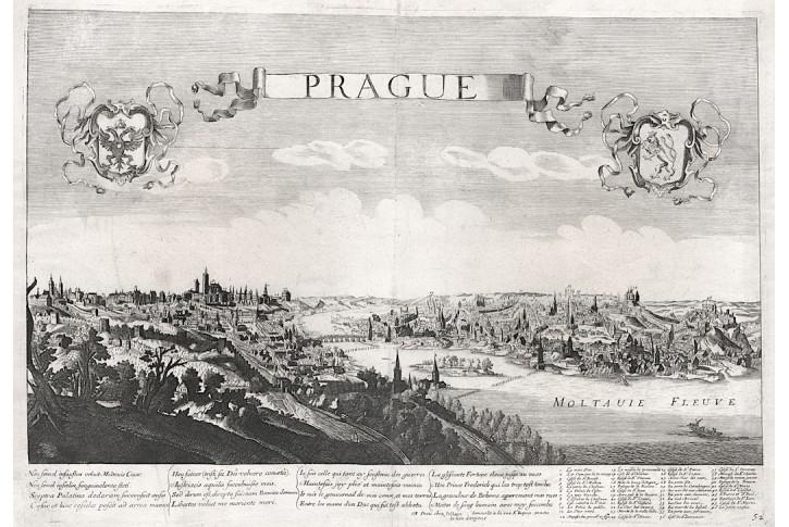 Praha, G. Jollain, mědiryt (1680)