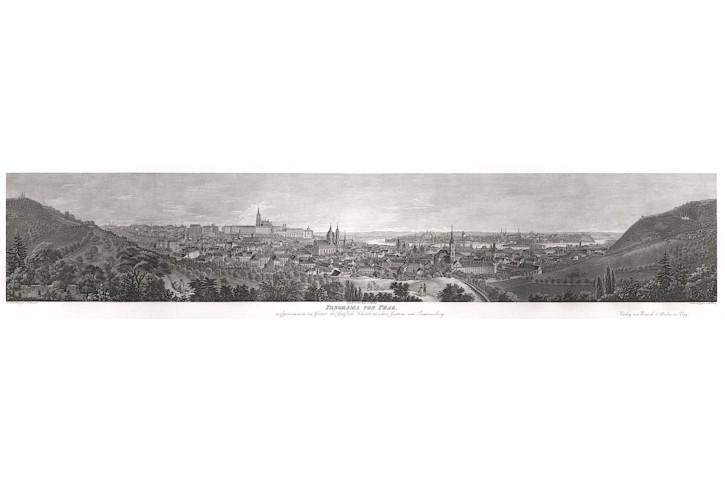 Praha , Morstadt, oceloryt, (1850)