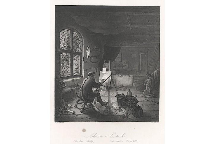 A. Ostade, Payne ,  oceloryt, (1860)