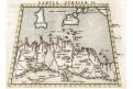 Afrika sever, Ruscelli, mědiryt, 1564