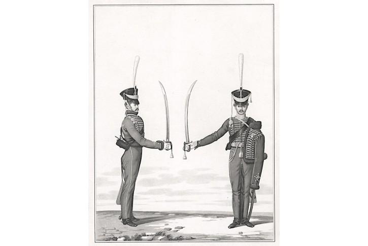 Vojáci, akvatinta, (1810)
