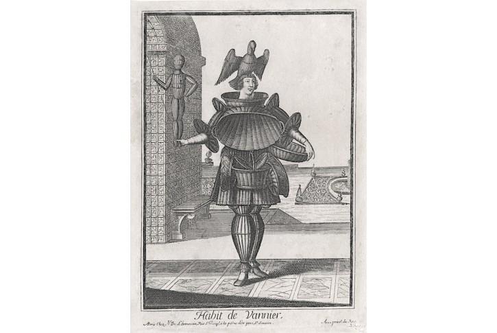 Košíkář, Larmessin, mědiryt, 1695