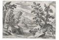Sadeler - Tempesta : Krajina s, mědiryt , (1620)