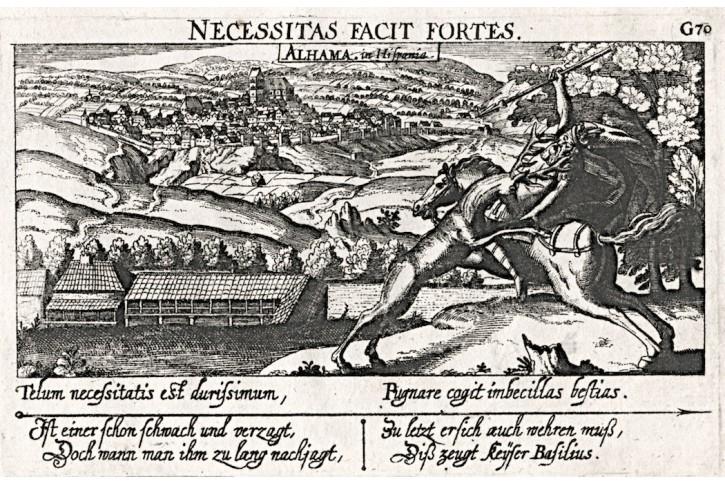 Alhama in Hispania, Meissner, mědiryt, 1638