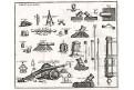Dělostřelectvo kanóny,  mědiryt , 18 století