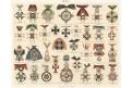Evropské řády , chromolitografie (1890)