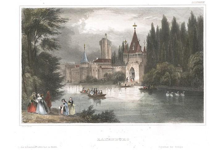Laxenburg, Meyer, kolor. oceloryt, 1850