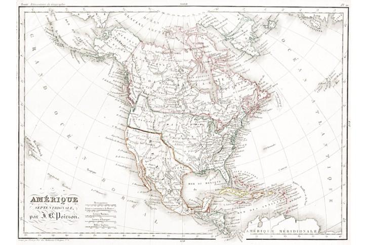 Amerique Poirson, Meyer, kolor. oceloryt,1838