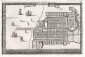 Jakarta Batavia,  mědiryt  1685