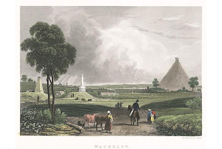 Waterloo, kolor. oceloryt, (1860)