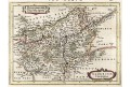 Namur, Janssonius (malý), kolor. mědiryt, 1648