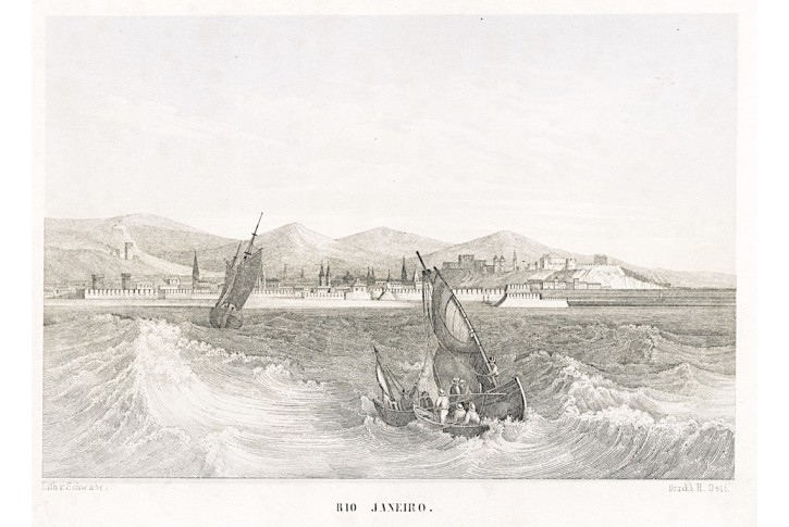 Rio Janeiro, Abesdorf, litografie , (1860)