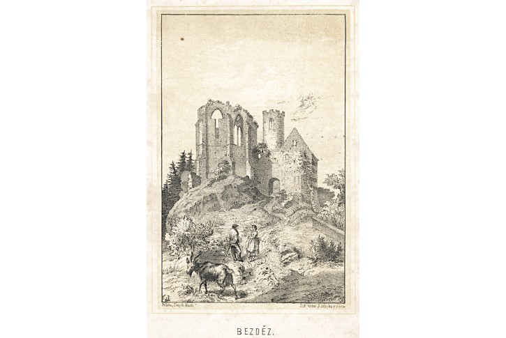Nepomuk, Zlaté klasy, litografie, (1860)