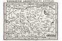 Rakousko , Bertius - Hondius, mědiryt, 1616