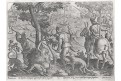 Stradanus - Galle : lov na zajíce, mědiryt, 1578