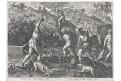 Stradanus - Galle : lov na jezevce, mědiryt, 1578