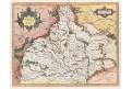 Merkator -Hondius , Moravia, mědiryt, 1616