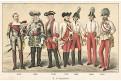 Rakousko vojáci 4 /1.,Chromolitografie (1900)