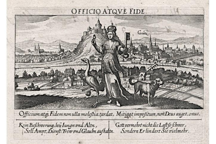 Grätz, Meissner, mědiryt, 1678