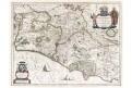 Blaeu G.: Campagna di Roma, kolor. mědiryt, (1640)