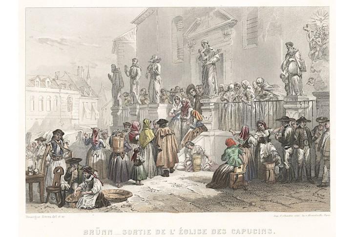Brno Kapucíni, Rouargue, kolor. oceloryt 1860