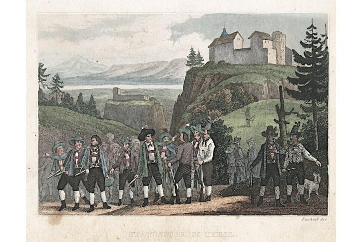Tyrol Stammschloss, kolor. oceloryt, (1840)