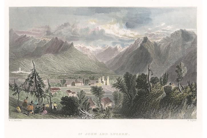 Luzern, Virtue, kolor. oceloryt, 1837