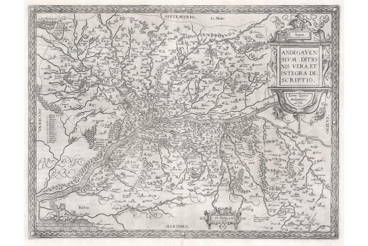 Ortelius A. : Andegavensium, mědiryt, 1595
