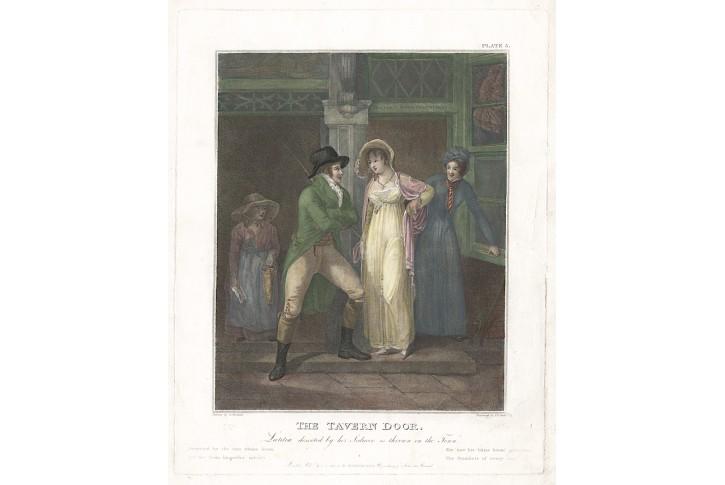 Taverna, podle Morlanda, kolor mědiryt, 1789